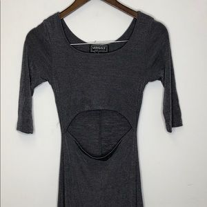 VERSACE Jeans Couture Dress Small Gray Maxi